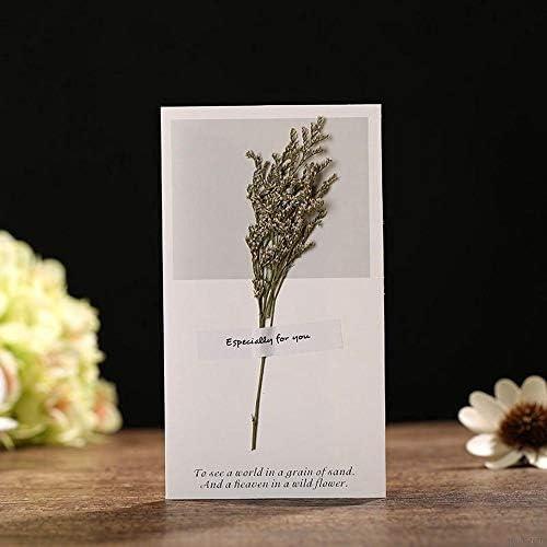 MZY1188 Blumen-Gruß-Karten-Beste Wunsch-Trockenblumen verzierten Einladungs-Karten-Greete Karte