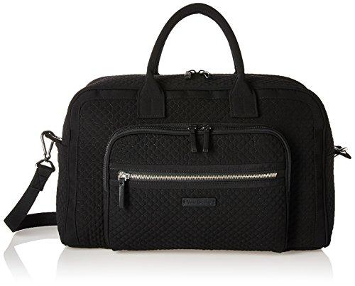Vera Bradley Women's Iconic Compact Weekender Travel Bag Vera, Classic Black by Vera Bradley
