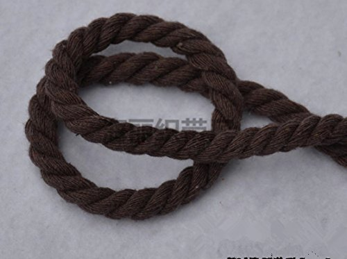 WellieSTR (100Metters/109yards) 3 Shares Twisted Cotton Cords 8mm DIY Craft Decoration Rope Cotton Cord for Bag Drawstring Belt COFFEE by WellieSTR (Image #2)