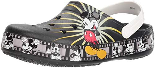 Soft Womens Clogs - Crocs Crocband Mickey Mouse 90th Anniversary Clog, Black, 6 US Men / 8 US Women