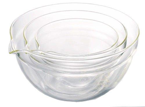 Hario Katakuti 3-Piece Mixing Bowl Set (300ml, 570ml, 960ml)
