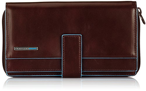 Piquadro Lady's Wallet In Leather, Mahogany/Mahogany, One Size by Piquadro
