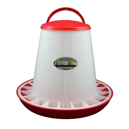 6kg Red and White Economy Hanging Feeder with Lid Country Fayre (UK) Ltd