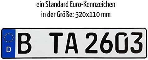 Amazon.es: 1 coche matrícula de Euro en el estándar tamaño de 520 x 110 mm Apto para todos los vehículos y Alemana – Portabicicletas Incluye una alta calidad transparentes para faros de móvil