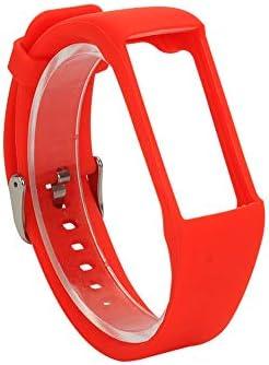 ACAMPTAR Silikon Armband für Polar A360 A370 Armband Silikon Armband Smart Armband Ersatz für Polar Fitness Tracker Rot