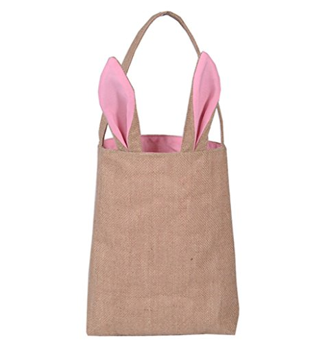 Liva Girl Easter Bunny Baskets Bags Personalized Burlap Bunn