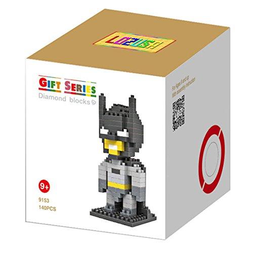 LOZUSA Cartoon Character 140 PCS Diamond Block Mini Figure Hero Micro Blocks Construction Model, Micro-sized Building Set Parent-child Games Building Blocks Children's Educational - Diamond Professional Blocks