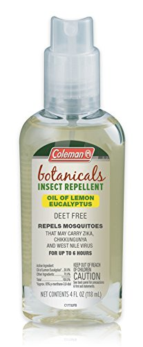 Coleman Deet Free Oil of Lemon Eucalyptus, Naturally-based Insect Repellent, Spray Pump 4 fl oz