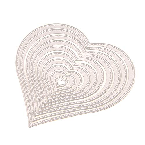 10pcs/Set Cut Heart Shape Dies Love Cutting Die Scrapbooking for Card Making DIY Photo Album Decorative Cuts Die