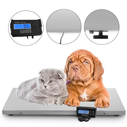 Scales Large Animal - Happybuy 440Lbs Digital Livestock Scale Large Pet Vet Scale 43.3