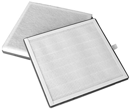Compatible 3-in-1 True HEPA Filter Replacement for PureZone Air Purifier Models - Pack of 2