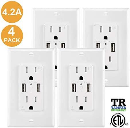 Outlet Charger Receptacle Resistant Wallplate product image