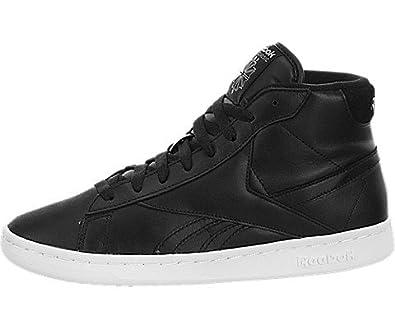 92e11352335 Amazon.com  Reebok NPC UK Mid Black White  Shoes