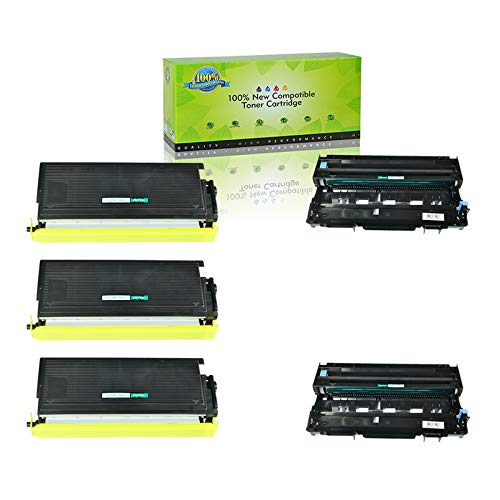 (NineLeaf Compatible Toner Cartridge Drum Replacement for Brother TN460 TN430 DR400 DR-400 TN-460 TN-430 DCP-1200 DCP-1400 HL-1030 HL-1230 HL-1240 HL-1250 HL-1270N HL-1435 (2 Drum 3 Toner,5 Pack))
