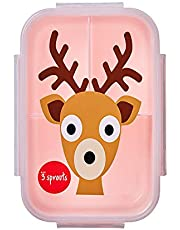 3 Sprouts Lunch Bento Box Leakproof 3 Compartment Lunchbox Container for Kids