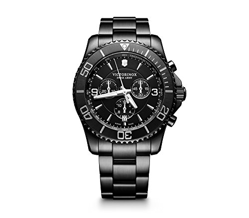 Victorinox Swiss Army 241797 Maverick Chrono Men's Watch Black 43mm Stainless Steel