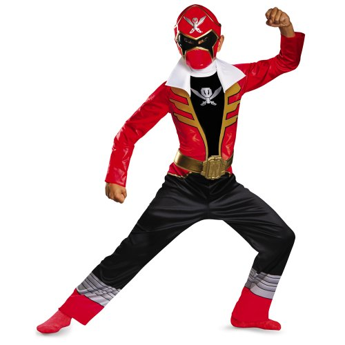 [Saban Super MegaForce Power Rangers Classic Boys Costume-Size 4t-6t (Red Ranger)] (Power Rangers Megaforce Halloween)