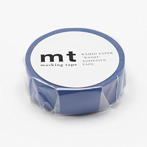 "MT Solids Washi Paper Masking Tape, 3/5"" x 33', Ruri, Lapis (MT01P197)"