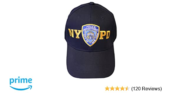 Amazon.com  NYPD Baseball Hat New York Police Department Navy   Gold One  Size  Military Apparel Accessories  Clothing bb29e73e5129