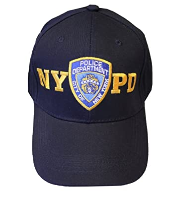 baseball hat new york police department navy gold one size nypd caps official cap