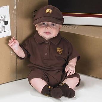 aa8cf7ebdb958 Amazon.com: UPS Guy Baby Driver Costume (12mo): Clothing