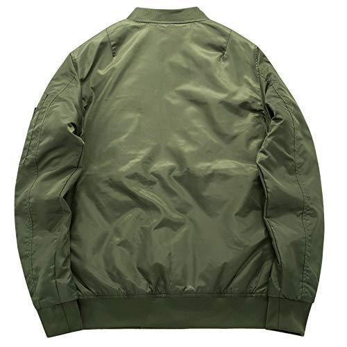 Loeay Casual Cargo Jacket épais et Mince armée Vert Militaire Moto aviateur Pilote Air Hommes Slim Fit Bomber Jacket… 2