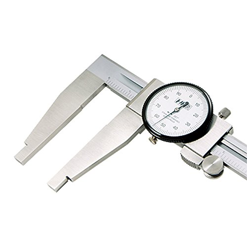 "HHIP Heavy Duty Dial Caliper, 3 3/8"" Jaw Length (Various Sizes: 0-18"" to 0-24"" Range)"