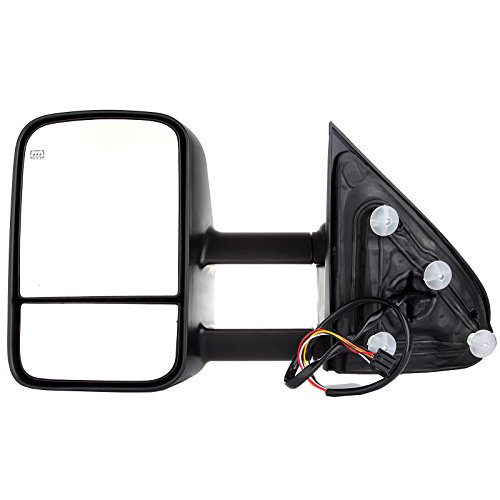 OCPTY Rearview Mirrors, Power Heated Towing Mirrors for 2014-2018 Chevy Silverado 2014-2018 GMC Sierra with Black Housing