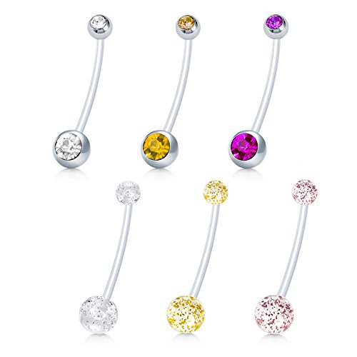extra long belly button rings - 1