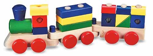 Melissa & Doug Wooden Stacking Train by Melissa & Doug