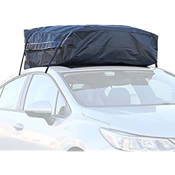 Superior Car Roof Bag   100% Waterproof Roof Top Cargo Bag No Rack Needed + Non