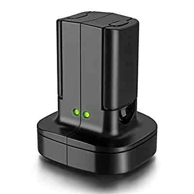 ea3a04e3980b For Xbox 360 2 Pack Rechargeable Battery Pack with Dual Charging Station  Dock Charger Stand Base