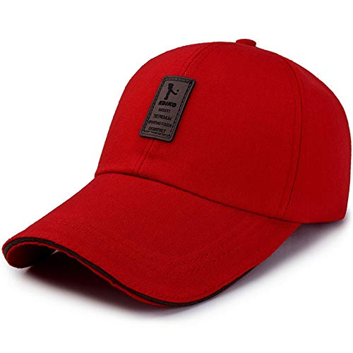 Qsir Long Hat Head Simple Baseball Cap Ladies Sun Visor Men's Casual Sun Hat Summer Golf Cap Winter Warm Hat