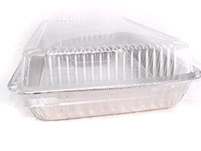 "Disposable Aluminum 13 x 9 x 2 "" Cake Pan with Clear Plastic Dome Lid #4700P"