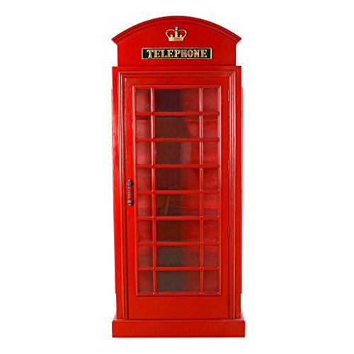 Design Toscano British Telephone Booth Display Cabinet