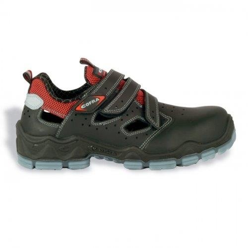 Cofra 20110-000 - Sandalias de seguridad s1p van gogh bienestar, zapatos de seguridad del verano, tamaño 46, negro,