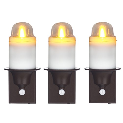 Battery Night Light, Night Light Motion Sensor Night Light Flameless Candle Set of 3 By Comenzar