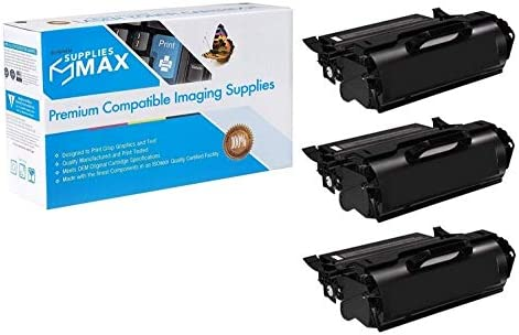 3//PK-10000 Page Yield 2Y667/_3PK SuppliesMAX Compatible Replacement for Dell S2500//S2500N Toner Cartridge