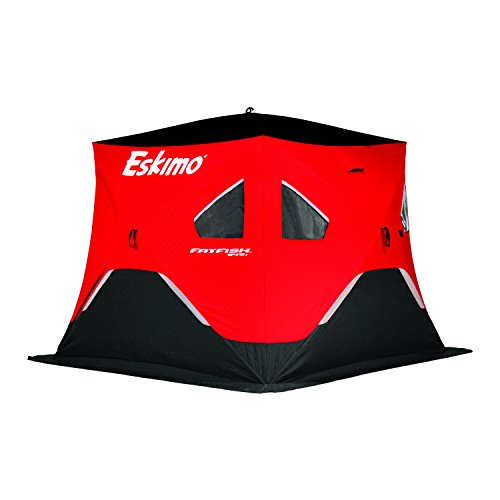 Eskimo FF949I FatFish Insulated Pop-up Portable Ice Shelter, 3-4 Person (Best Pop Up Ice Shelter)