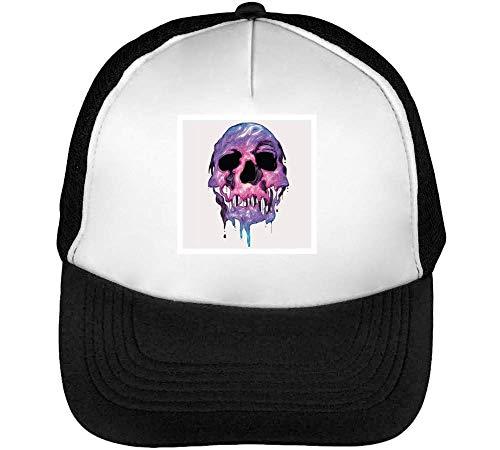 Melted Purple Haze Skull Gorras Hombre Snapback Beisbol Negro Blanco