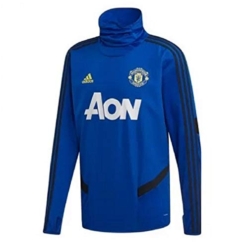 adidas Manchester United FC Official 2019/20 Long Sleeve Training Top - Adult - Royal - M