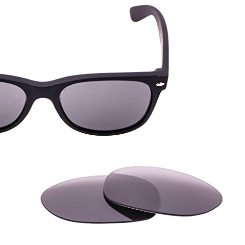 LenzFlip Replacement Lenses for Ray Ban New Wayfarer RB2132 52mm - Gray Polarized with Silver Mirror - Bans Ray Reflective