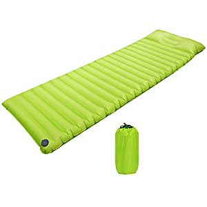 Camping Sleeping Pad, TPU Fast Inflatable Air Mattress Lounger Sofa Sleeping Mats for Adults with Airbag, Portable Waterproof Lazy Bed Sleeping Pad for Hiking Traveling Pool Camping Beach Park
