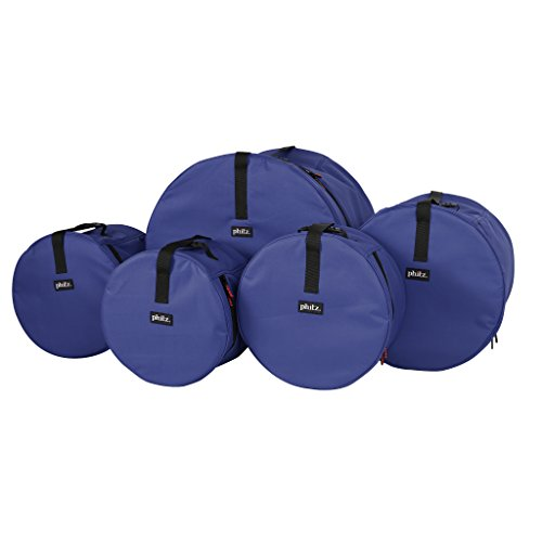 Drum Cases 5 Piece Navy Phitz