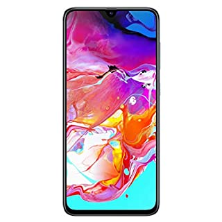 Samsung Galaxy A70 (128GB, 6GB RAM) 6.7 inches Display, On-Screen Fingerprint, Global 4G LTE GSM Factory Unlocked A705MN/DS (White) (Renewed)