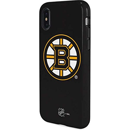 Skinit Boston Bruins Solid Background iPhone X Pro Case - Officially Licensed NHL Phone Case Pro, Scratch Resistant iPhone X Cover