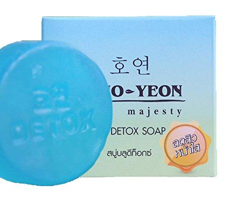 ho-yeon 70g x4Bares Azul Detox Limpieza De Desintoxicación Reducir acné Jabón