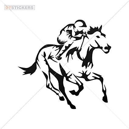 Amazon Com Hobby Vinyl Decal Horse Racing Jockey Hobby Decor 6 X 5