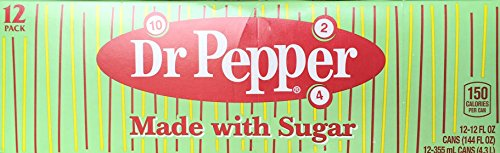 Price comparison product image Dr Pepper Made with Imperial Sugar (Not Dublin Dr Pepper) 12 Fl Oz (Pack of 12)