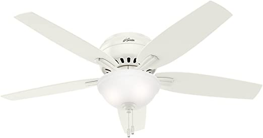Hunter Newsome Indoor Low Profile Ceiling Fan With Led Light And Pull Chain Control 52 White Home Improvement Amazon Com